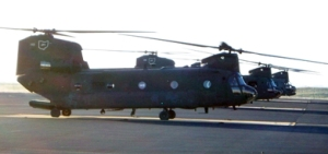 Three Ohio National Guard Chinook helicopters
